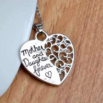 Mother daughter jewelry matching hollow heart custom words heart mother daughter jewelry matching hollow heart custom words heart pendant necklace aloadofball Images