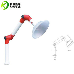 PP Ceiling and Wallmount Fume Extraction Arm/Laboratory Fume Exhaust/Lab fittings
