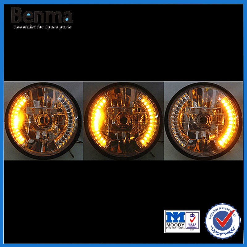 Hot sell 12V 7 Inch Motorcycle round led headlight
