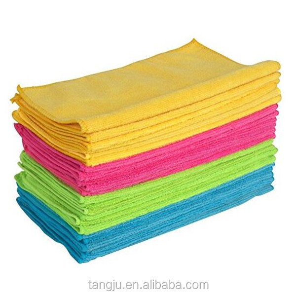 Super absorbent cleaning wipes 40 x 40 cm multi colors car wash microfiber cloth towels