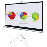 Indoor or outdoor Portable Mobile Tripod Projector Screen