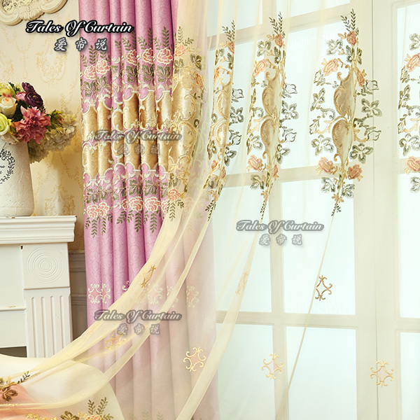 100% polyester fancy handmade and latest popular cheap good quality sheer curtains
