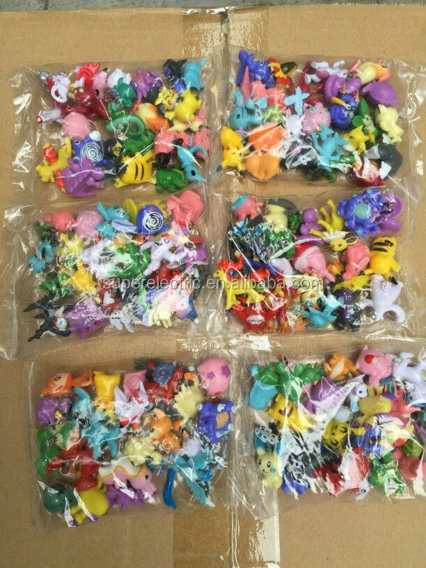 wholesale Pokemon go toy model Action Figure 144 units in 1 set 24 units multiply by 6 bags