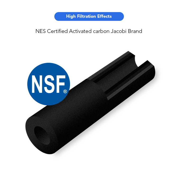 NSF certified CTO coconut shell activated carbon block 10 inch water filter for RO system