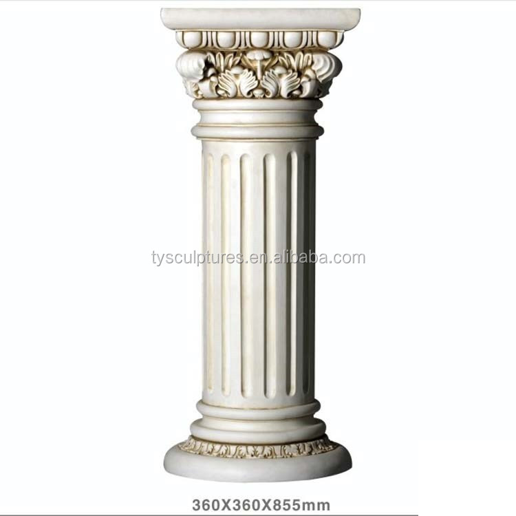Small Stone Marble Interior Decorative Hollow Pillars For