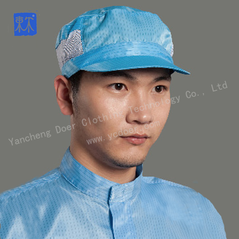 Food factory use polyester ESD hat with velcro