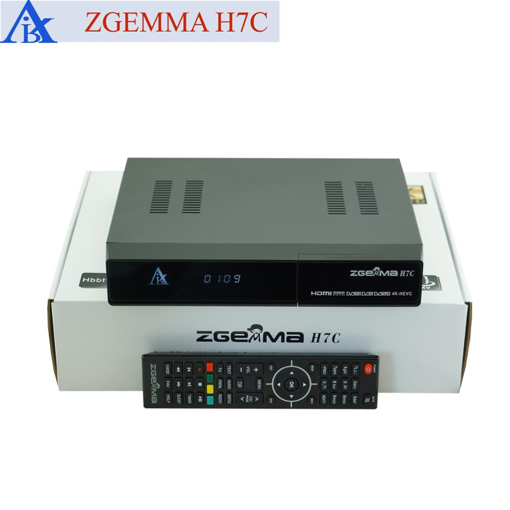 For Italy/spanish Multistream 4k-2160p Zgemma H7c Satellite Receiver  Dvb-s2x+2*dvb-t2/c Zgemma 4k - Buy Multistream Italy,Zgemma H7c,Zgemma 4k