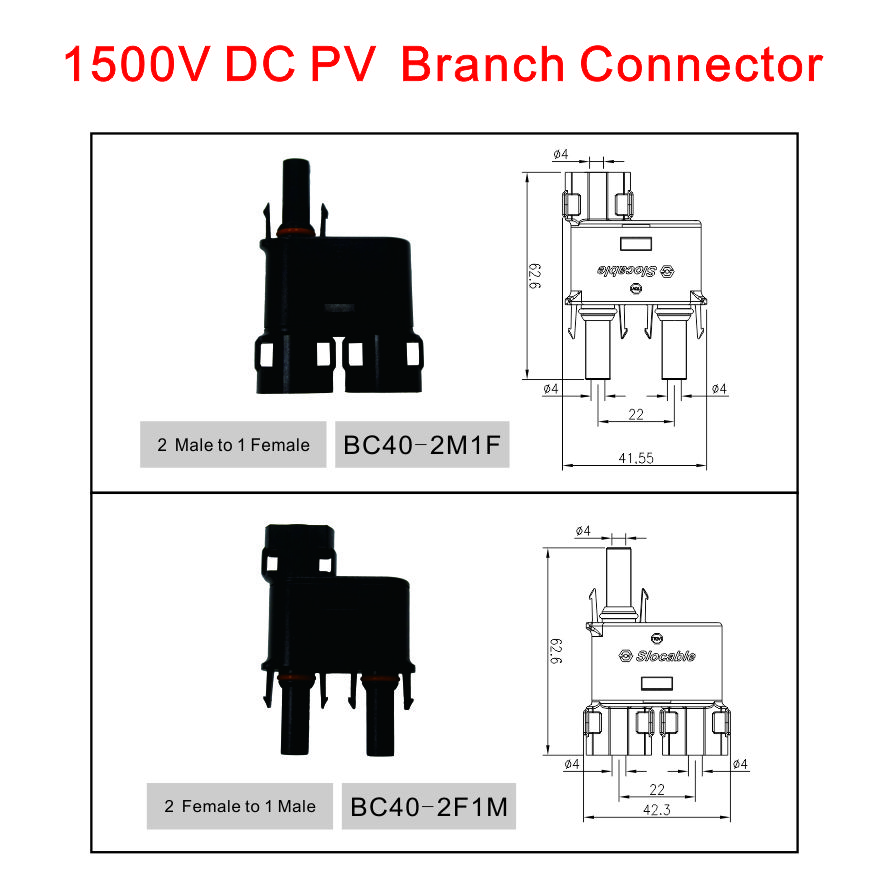 T and Y Solar Branch Connector PV Solar Branch Connector