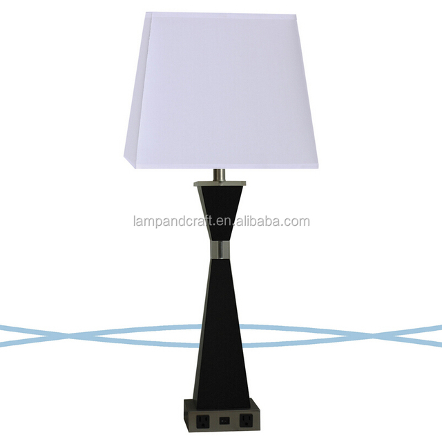 Buy cheap china table lamp shade accessories products find china white fabric shade home accessories table lamp with power outlet and switch in the base aloadofball Gallery