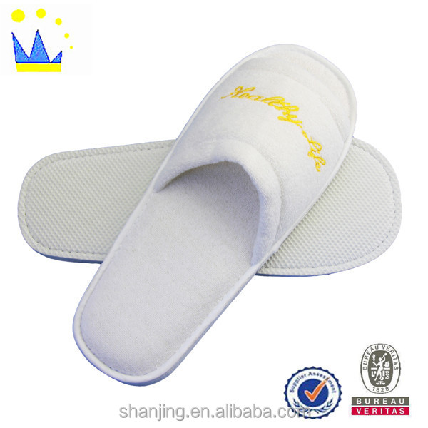 new models open toe hotel slipper for adults man and woman