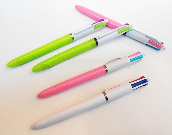Bic 4 Coloured Grip Pen Medium & Fine image