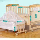 High quality baby wooden crib/ natural color portable bed side crib with multifunction
