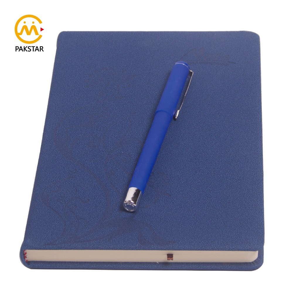 Chinese factory custom matt texture faux PU leather journal printing service