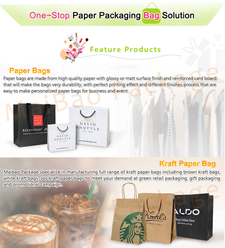 ประเทศจีนผู้ผลิตขนาดเล็กสีขาวงานแต่งงานสุดหรูโลโก้ที่กำหนดเองพิมพ์ถุงของขวัญกระดาษที่มีการจัดการ