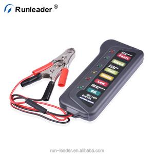 Runleader 12V Car Digital Battery Load Tester 6 LED Alternator Motorcycle  Vehicle Display