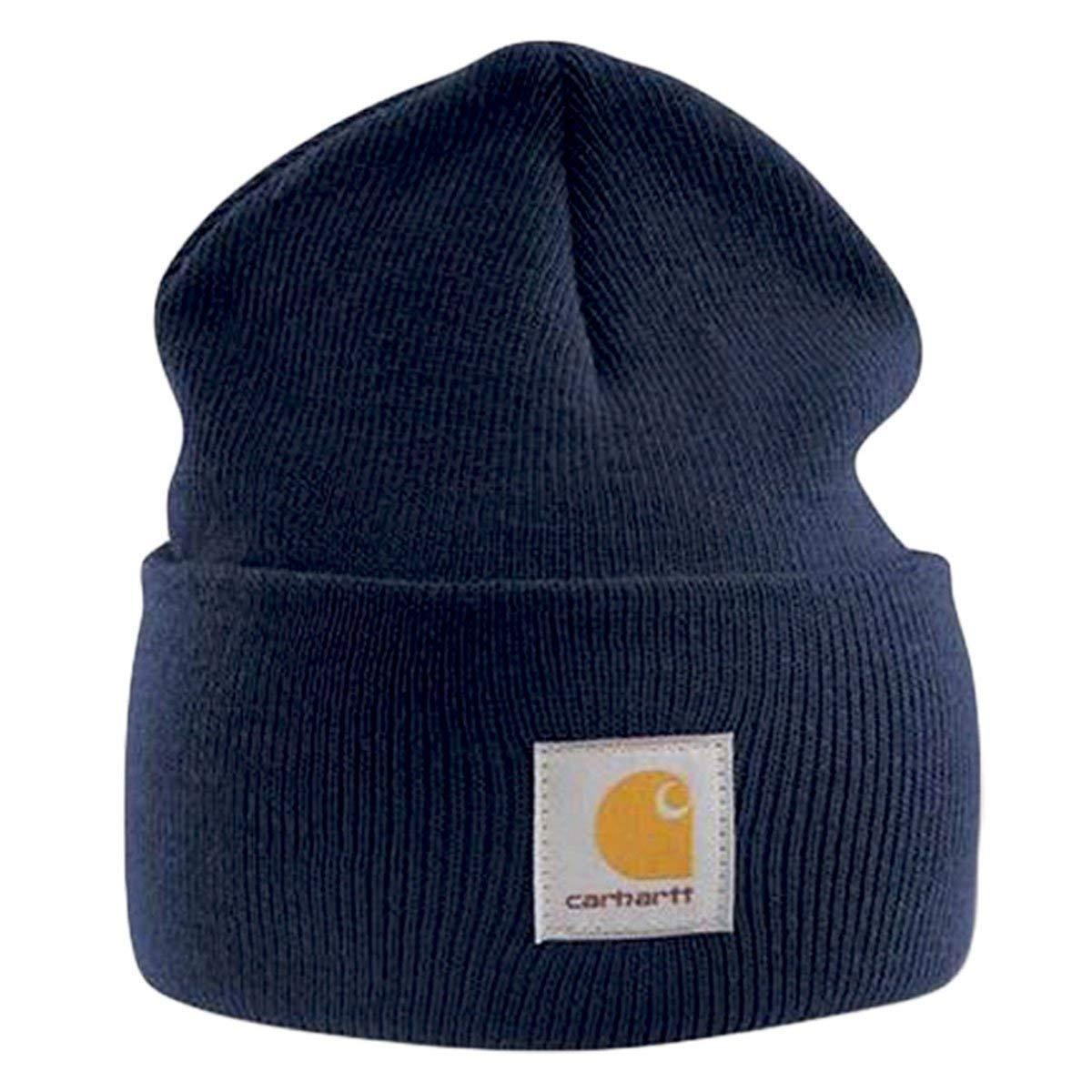 a862558f46a Get Quotations · Carhartt Acrylic Watch Cap - Navy Mens Winter Work Beanie  Ski Hat