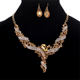 New fashion temperament flash diamond Y shaped necklace luxury bridal jewelry set
