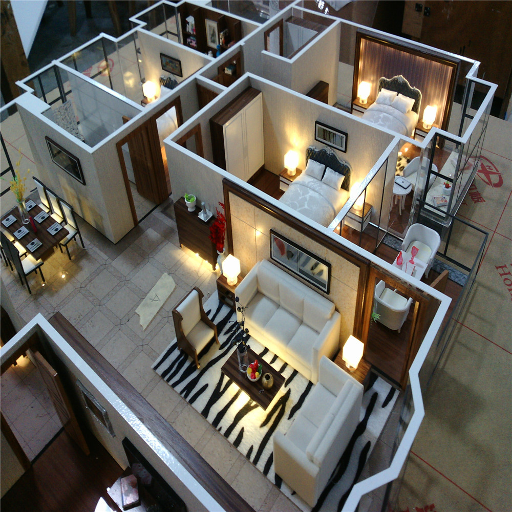 Model Home Interior Decorating: Architectural Scale Model Maker Of House Interior Layout