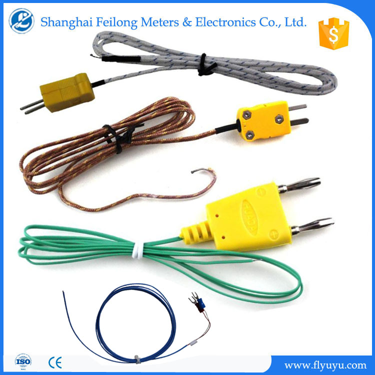 k type thermocouple bare wire teflon insulated stranded leads