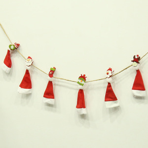 New products Christmas Mini Photo Wooden Clips Fashionable Ornament Clips Festival Decorations