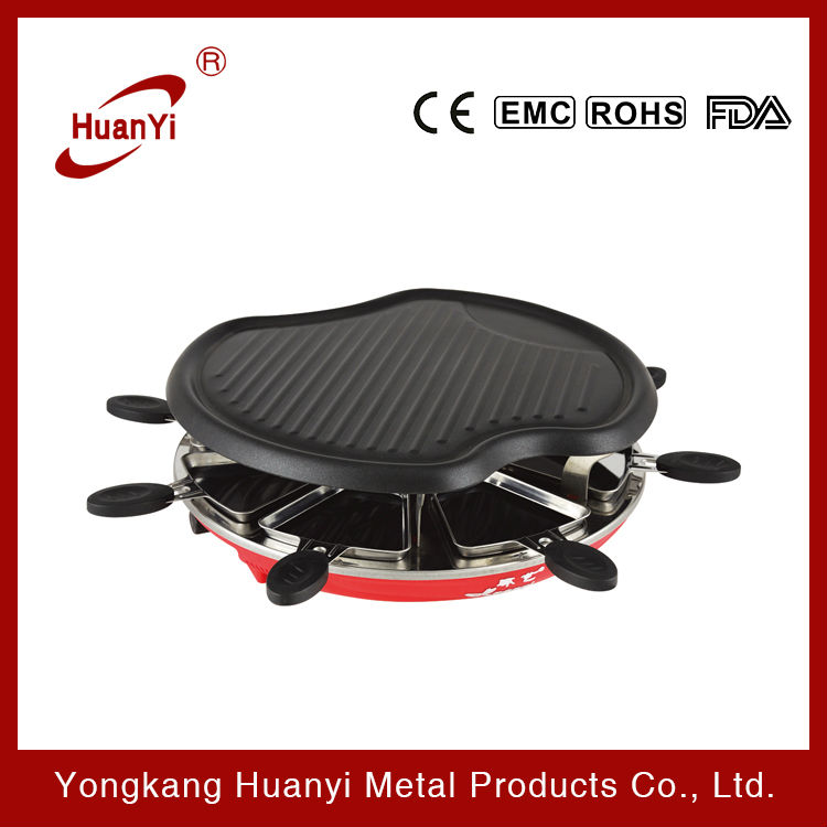 1300w Reclette Apple Shaped Electric Grill For 8 People