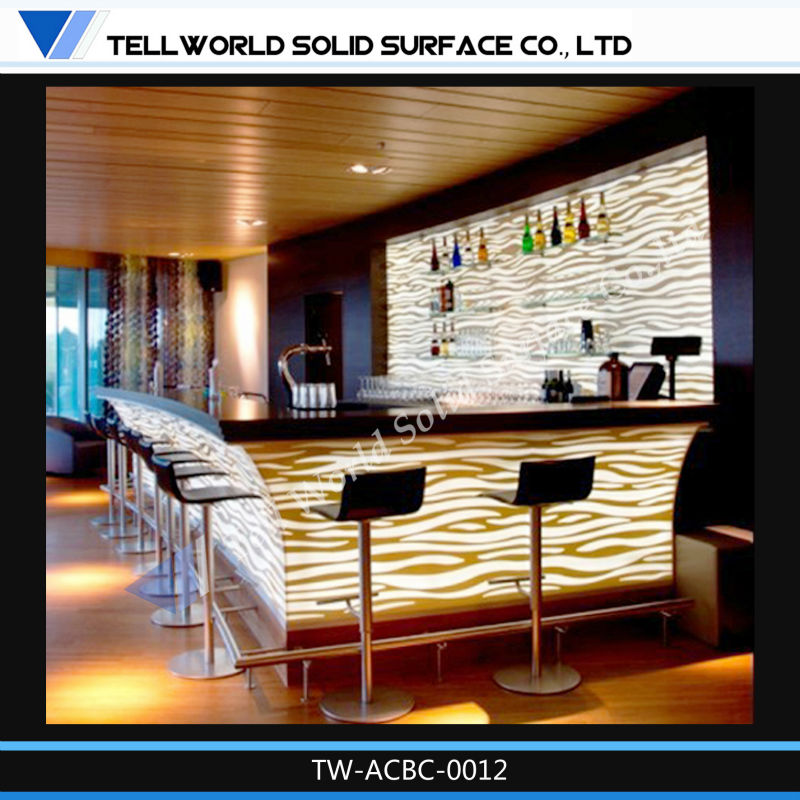 Luxury New Style Modern Bar Tables Used Counters Bar Led Counter