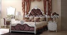 YB11 High quality wood carving luxury Italian bedroom furniture
