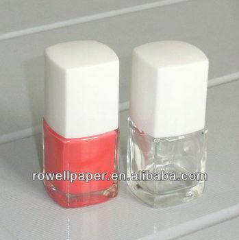 12ml Factory White Cap Square Cosmetic Gel Nail Polish Glass Bottles ...