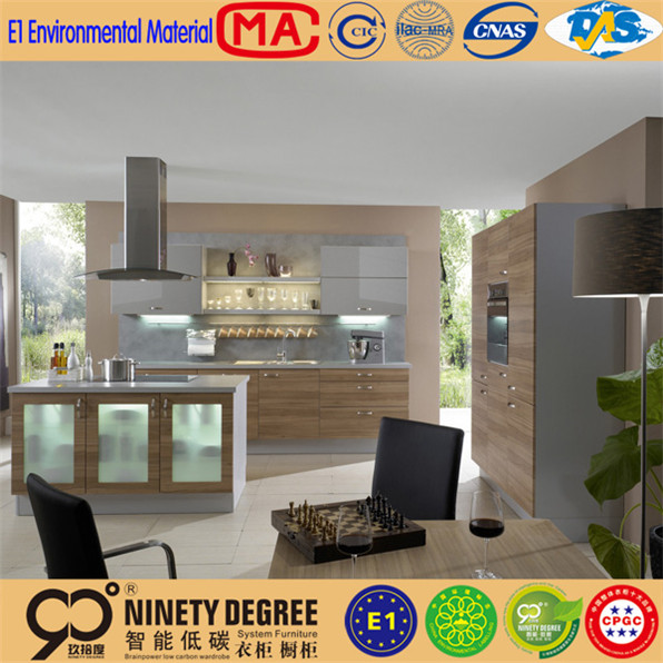 ultrathin pure aluminium high pressure laminatedmdf carcass melamine kitchen cabinets