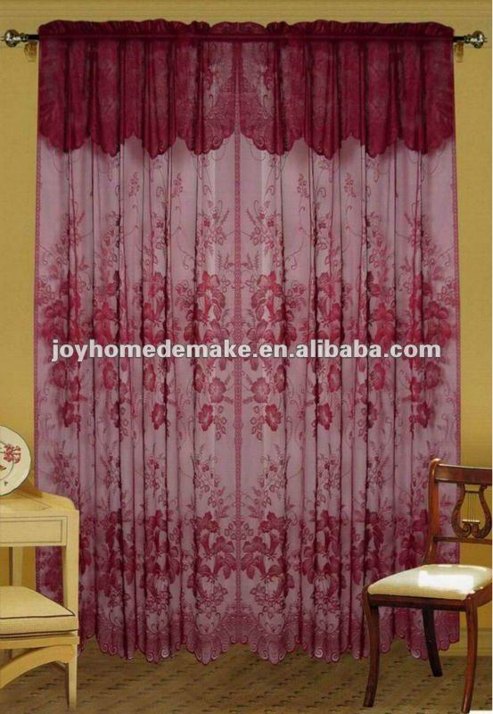 lace curtain with valance