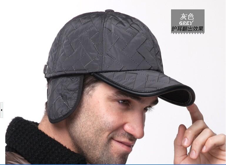 2015 חדשה סגנון כובע בייסבול גברים אופנה החורף כובעי קלאסית פשוטה כובעים חמים אטמי אוזניים חיצונית 4 צבעים