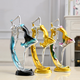 Wholesale Europe Regional Creative Young Woman Dancing Figurine Beautiful Lady Dance Statue for Wedding Gift Home Decoration