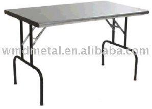 T 2 d acciaio inossidabile tavolo pieghevole tavolo esterno banco da lavoro pieghevole picnic - Tavolo da lavoro pieghevole ...