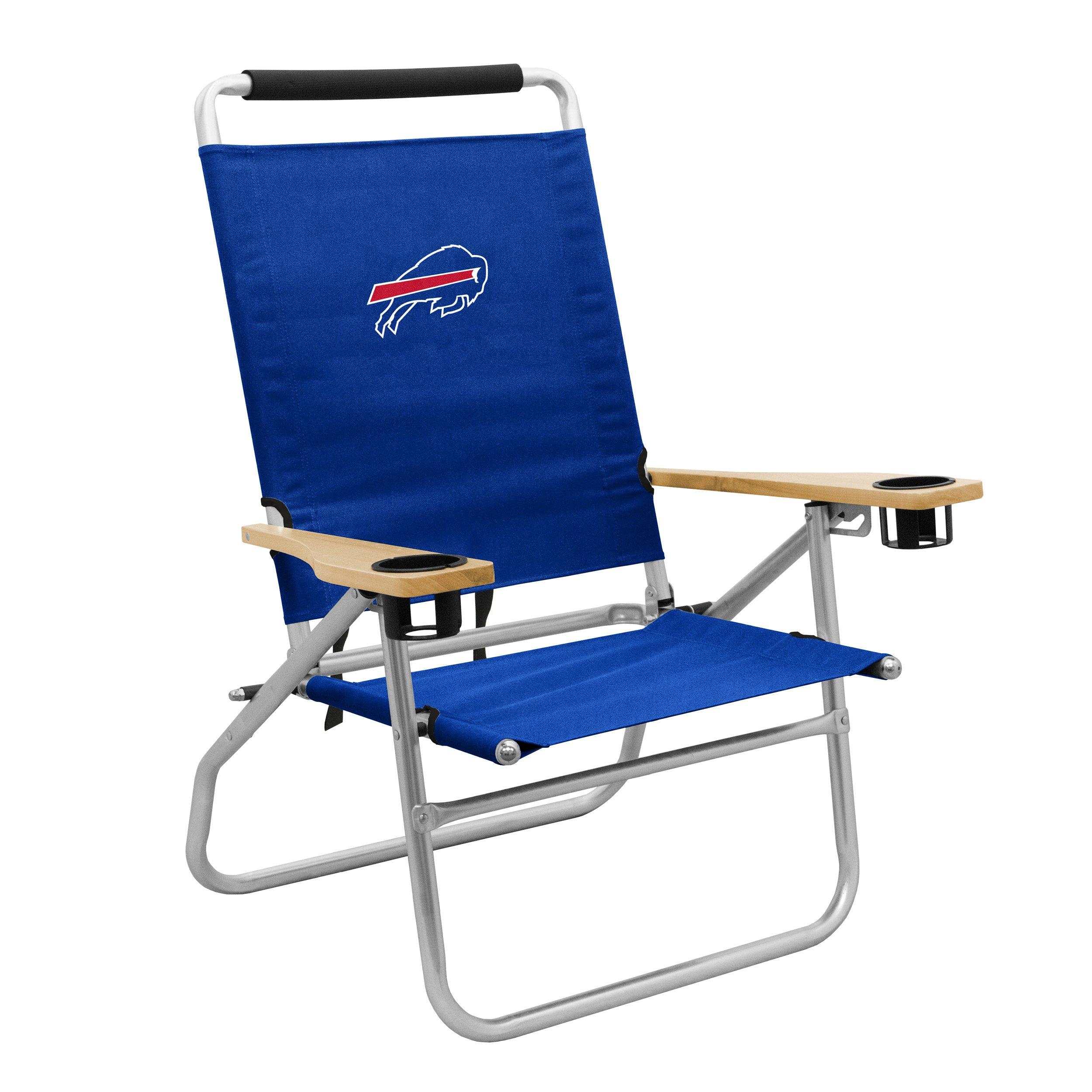 Logo Brands NFL Buffalo Bills Beach Chair, One Size, Blue