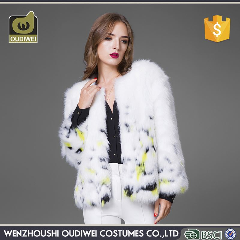 Hot Selling unique design fancy fur coats