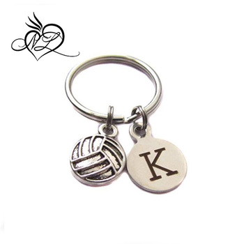 Custom Volleyball,Initial Letter Charm,Keychain,Sports Bag Charm Player Mom  Gift - Buy Engraved Stainless Steel Keychain,Custom Stainless Steel