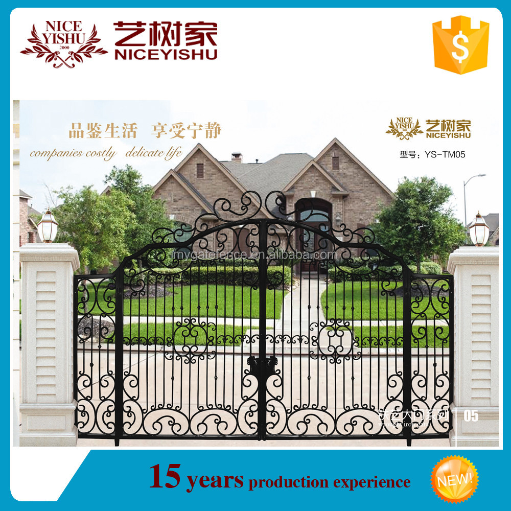 Garden Iron Gate Flower Design,Gate Color Design,Tubular Gate ...