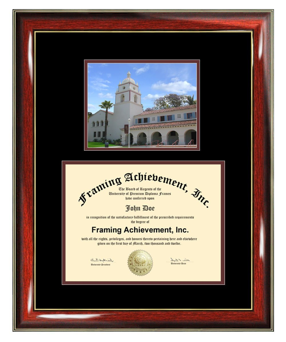 California State University Channel Islands Diploma Frame - CSUCI Graduation Degree Frame - Matted Campus College Photo Graduation Certificate Plaque University Framing Graduate Gift Collegiate