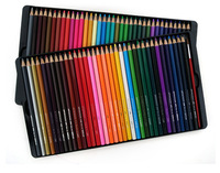 China wholesale 72pcs watercolor pencil wooden color pencil set with metal box