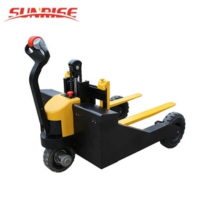 1 Ton Electric Power Operated Rough Terrain Big Wheel Pallet Truck