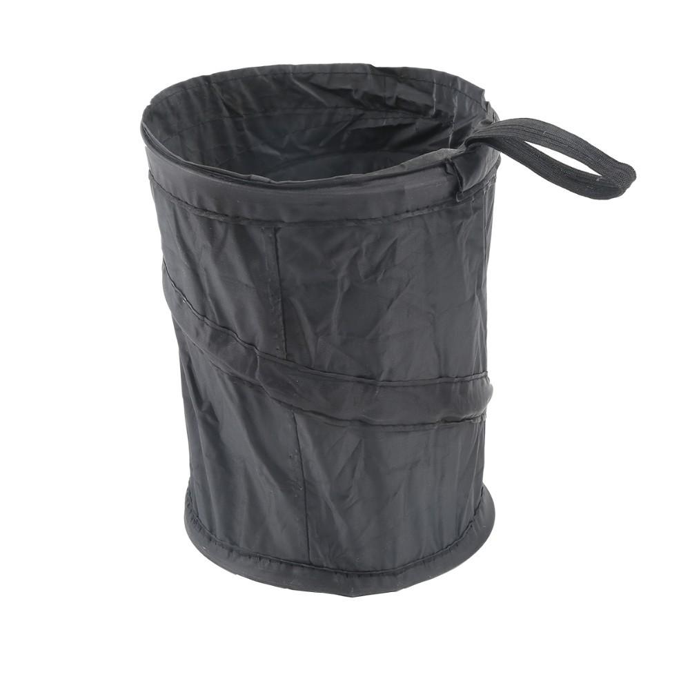 pop up litterbin car auto mini trash can waste bin storage container office black color in. Black Bedroom Furniture Sets. Home Design Ideas