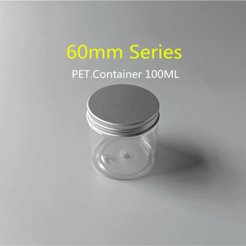 d81a8e177438 100ml Clear Plastic Ball Container With 60mm Diameter Aluminum Screw Cap -  Buy Clear Plastic Ball Container,Plastic Container Supplier In ...