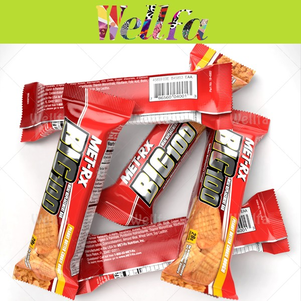 Cereal Bar Back Sealed Plastic Packaging Food Bar Wrapping Sachet ...