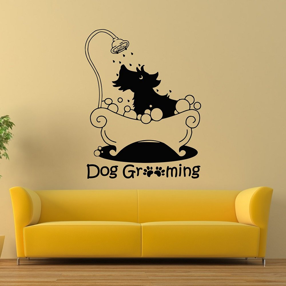 Buy Wall Decals Dog Cat Grooming Salon Yin Yang Decal Vinyl Sticker ...