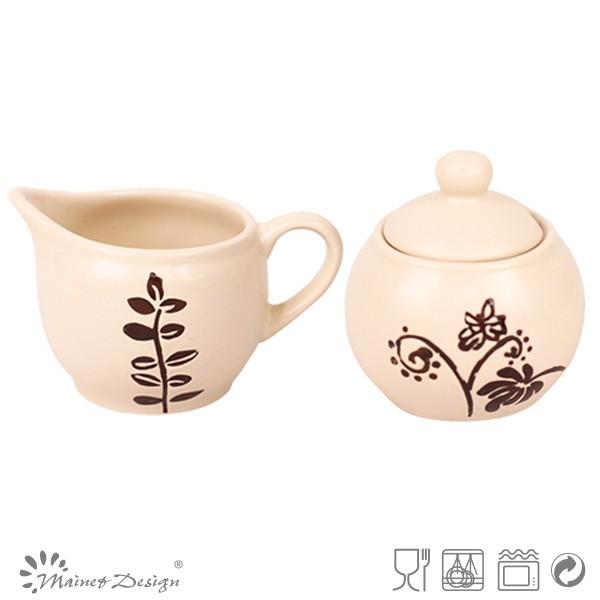 Stoneware Dinnerware Sugar Bowl Coffee Creamer Container Product On Alibaba