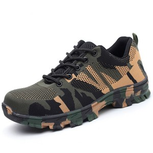 Isreal liberty fancy ultra light athletics breathable steel toe inserts camouflage safety shoes zapatos de seguridad de China