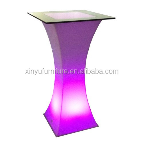 Modern design party light led bar counter cocktail table for night club XYN4730