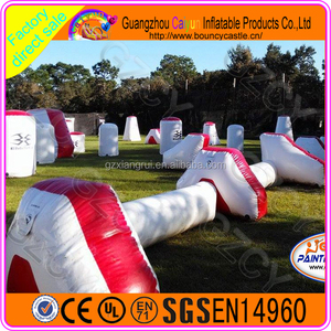 Inflatable paintball field used paintball bunkers