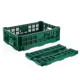 Heavy duty plastic collapsing vegetable folding crate
