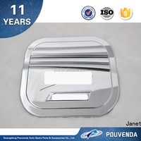 Car exterior accessories ABS chrome gas cap tank fuel filler door cover For Changan CS75 From Pouvend